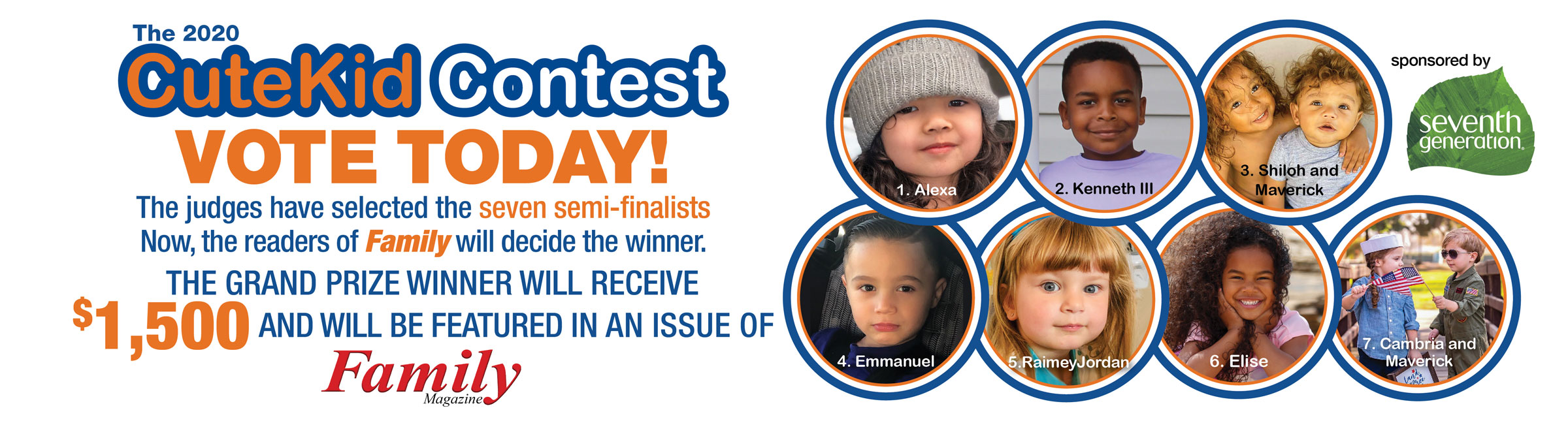 Cute Kid Contest banner